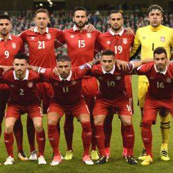 Soccer Football - 2018 World Cup Qualifications - Europe - Republic of Ireland vs Serbia - Dublin, Ireland - September 5, 2017   Serbia team group before the match   REUTERS/Clodagh Kilcoyne