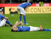 Soccer Football - 2018 World Cup Qualifications - Europe - Italy vs Sweden - San Siro, Milan, Italy - November 13, 2017   Italy players look dejected after the match             REUTERS/Max Rossi - RC14E19D9AE0